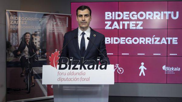 La Diputación de Bizkaia presenta una campaña para promocionar el uso de la red de bidegorris
