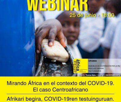 Afrika Imprescindible Gipuzkoa propone un encuentro digital sobre la situación de la República Centroafricana