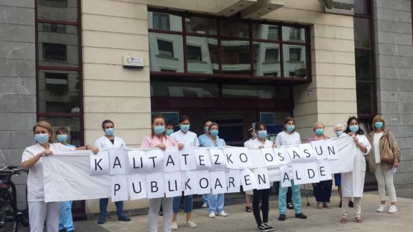 Los sindicatos se concentran en defensa de la sanidad pública