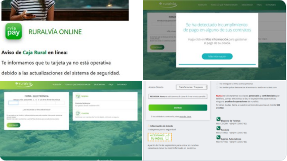 Una campaña de phishing suplanta a Caja Rural