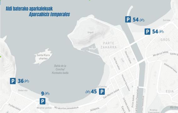 San Sebastián amplía la dotación de aparcamientos para bicicletas en las playas